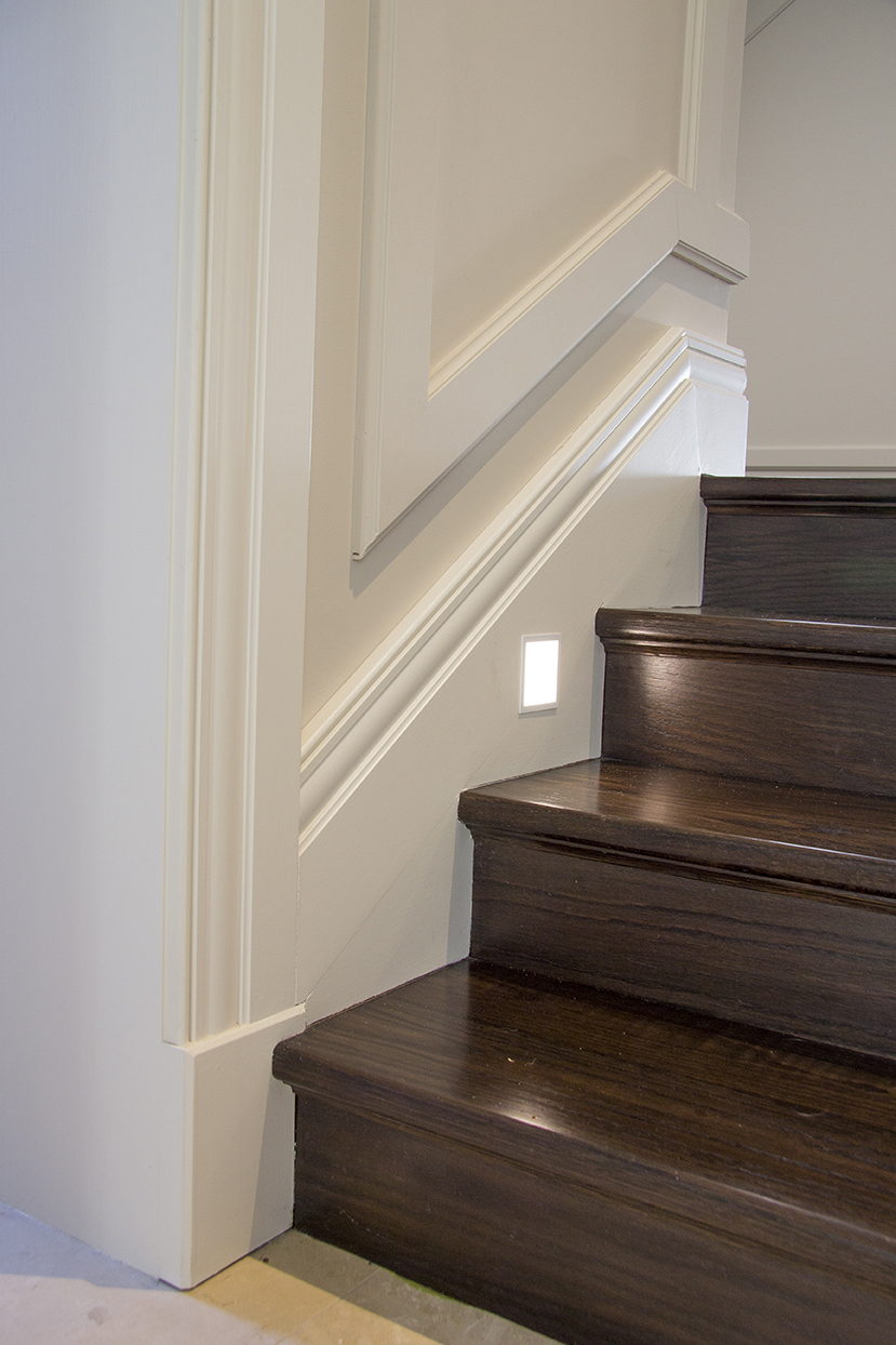 Makeover Your Staircase With Wainscoting Intrim Mouldings